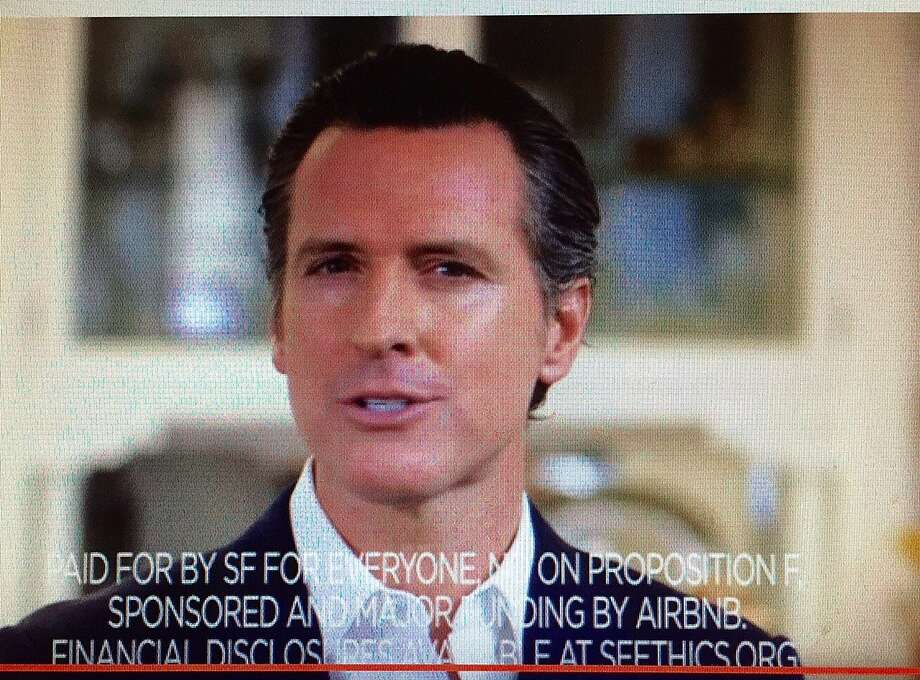 Media-savvy Lt. Gov. Gavin Newsom let his future campaign hopes be known early. Photo: None, No On Proposition F