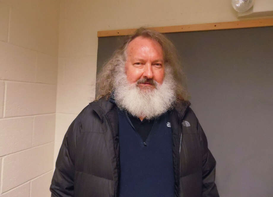 Actor Randy Quaid stands in the Vermont State Police barracks in St. Albans, Vermont, on Friday, Oct. 9, 2015. State Police say Quaid has been taken into custody while trying to cross from Canada into the United States. Quaid is wanted in Santa Barbara, Calif., to face felony vandalism charges filed in 2010 after he and his wife were found squatting in a guesthouse of a home they previously owned. Photo: AP / Vermont State Police