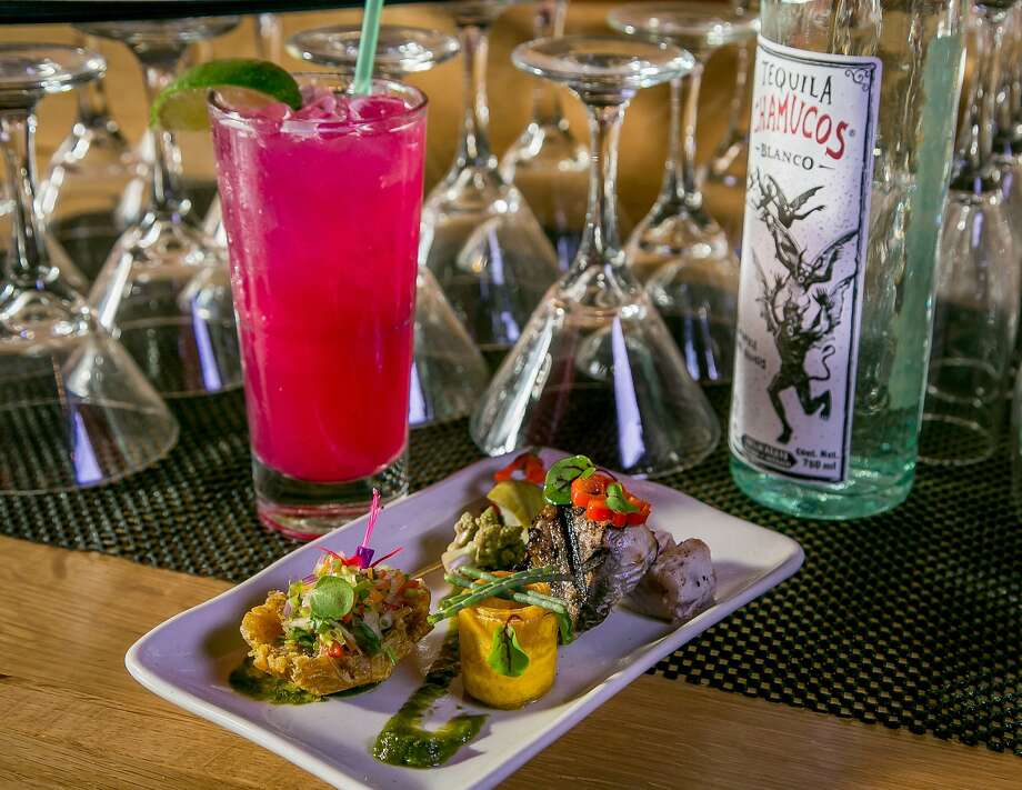 Catch of the Day with bonito and a cactus margarita at Coco Frio in S.F. Photo: John Storey, Special To The Chronicle