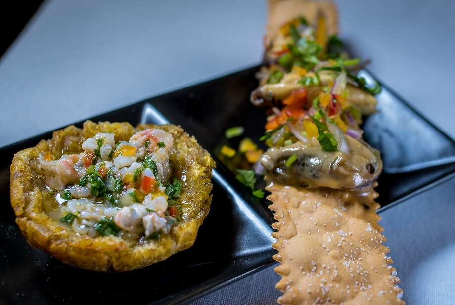 A crispy plantain shell filled with ceviche at Coco Frio in San Francisco. Photo: John Storey, Special To The Chronicle