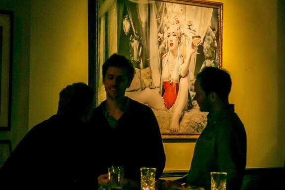 People have drinks at Bergerac in San Francisco, Calif. on Thursday, October 8th, 2015.