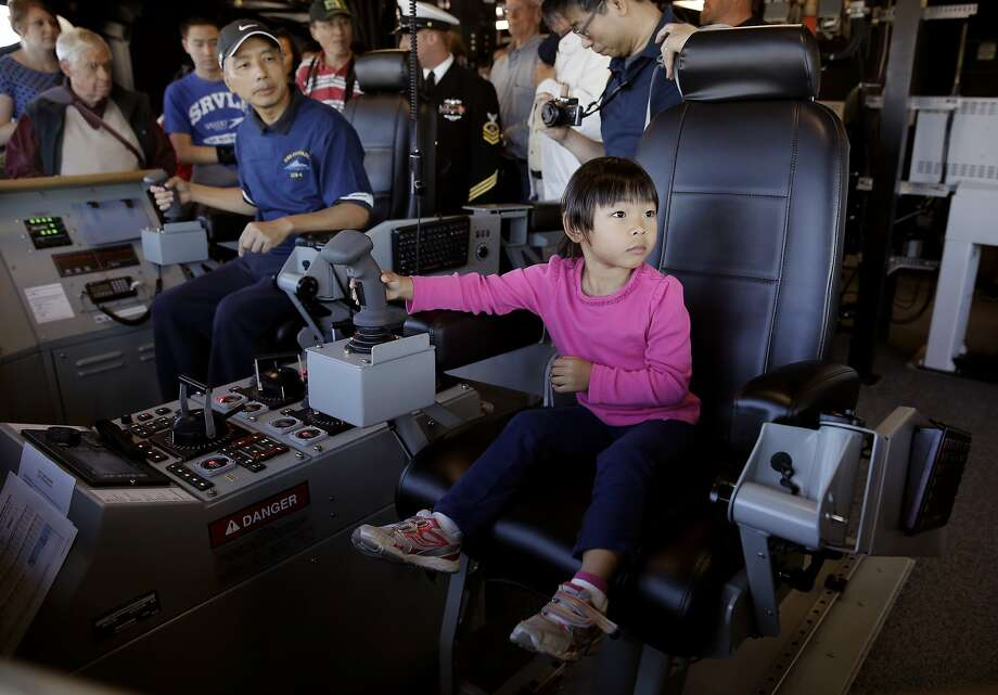 Ship tours(Tuesday, Thursday 10am-2pm - Sunday & Monday 9am-4pm): Visitors can climb aboard ships docked at the Embarcadero for a closer look at the lives and accommodations of our Navy and Coast Guard sailors. Specific pier information can be found here. Photo: Michael Macor, The Chronicle