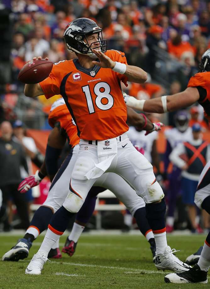 Peyton Manning, now 39, has led the Broncos to a 4-0 record and is now 42-10 in the regular season since joining Denver. Photo: Jack Dempsey, Associated Press