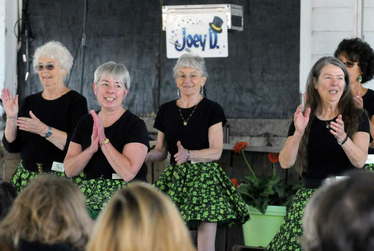 Members of the Hill Country Cloogers dance during Goold Orchards 27th Annual Apple Festival & Craft Show on Saturday Oct. 10, 2015 in Castleton, N.Y. (Michael P. Farrell/Times Union)