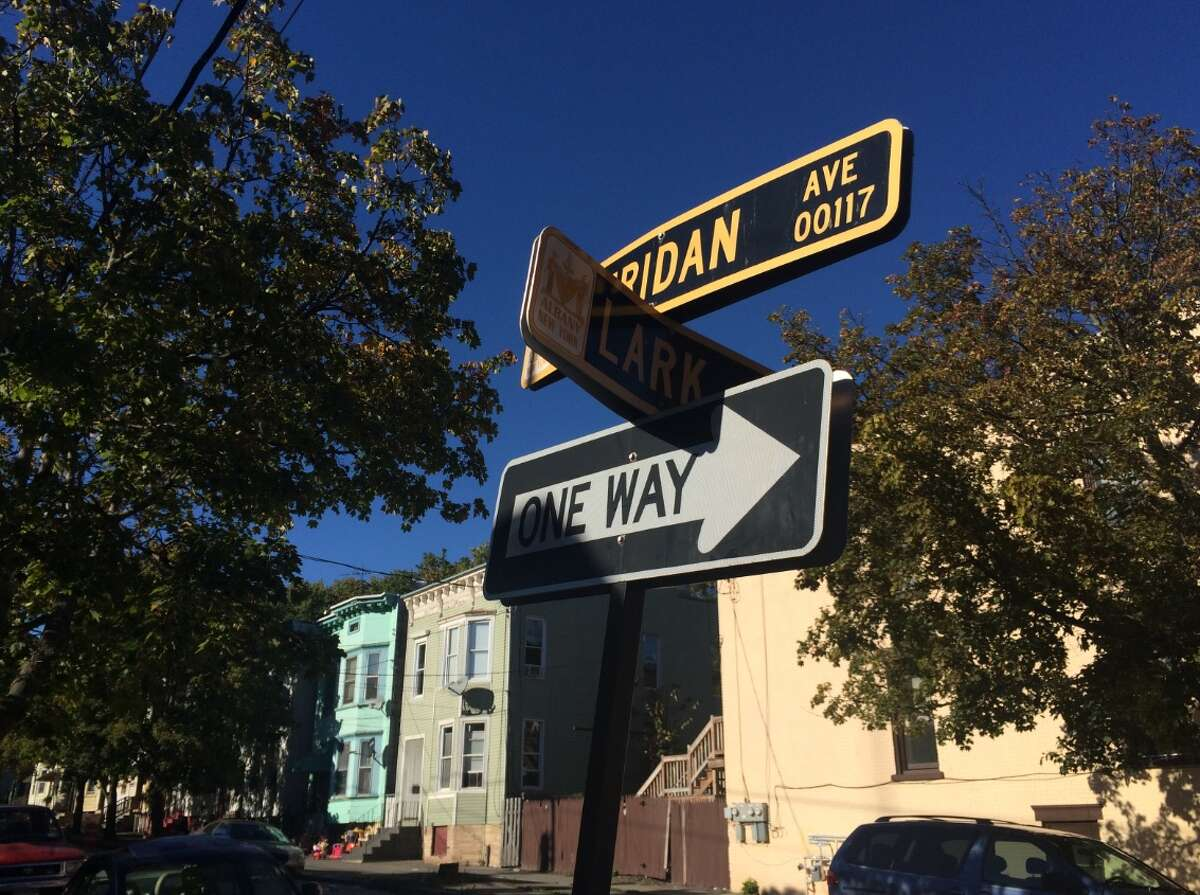 Police say a 20-year-old man was shot in the upper leg at the corner of Sheridan Avenue and Lark Street around 12:40 p.m. Saturday