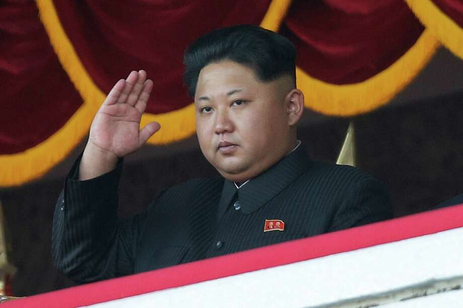 """North Korean leader Kim Jong Un on Saturday gave his first public speech in three years, emphasizing his """"love"""" and """"dedication to the people"""" at a military parade in Pyongyang, North Korea.  Photo: Wong Maye-E, STF / AP"""