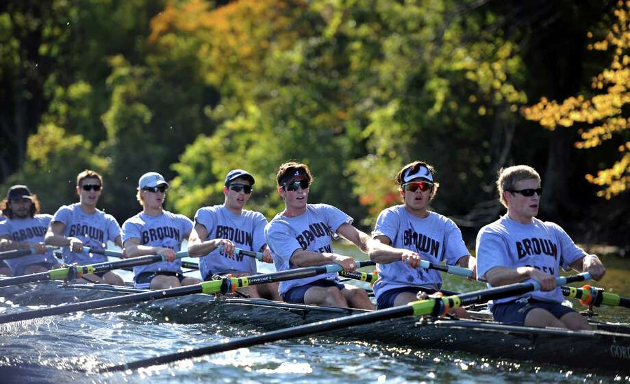 The 21st Head of the Housatonic Regatta takes place Saturday, Oct. 10, 2015 at Indian Well State Park in Shelton, Conn. Over 700 shells raced the 2.7-mile course up the river. Photo: Autumn Driscoll / Hearst Connecticut Media / Connecticut Post