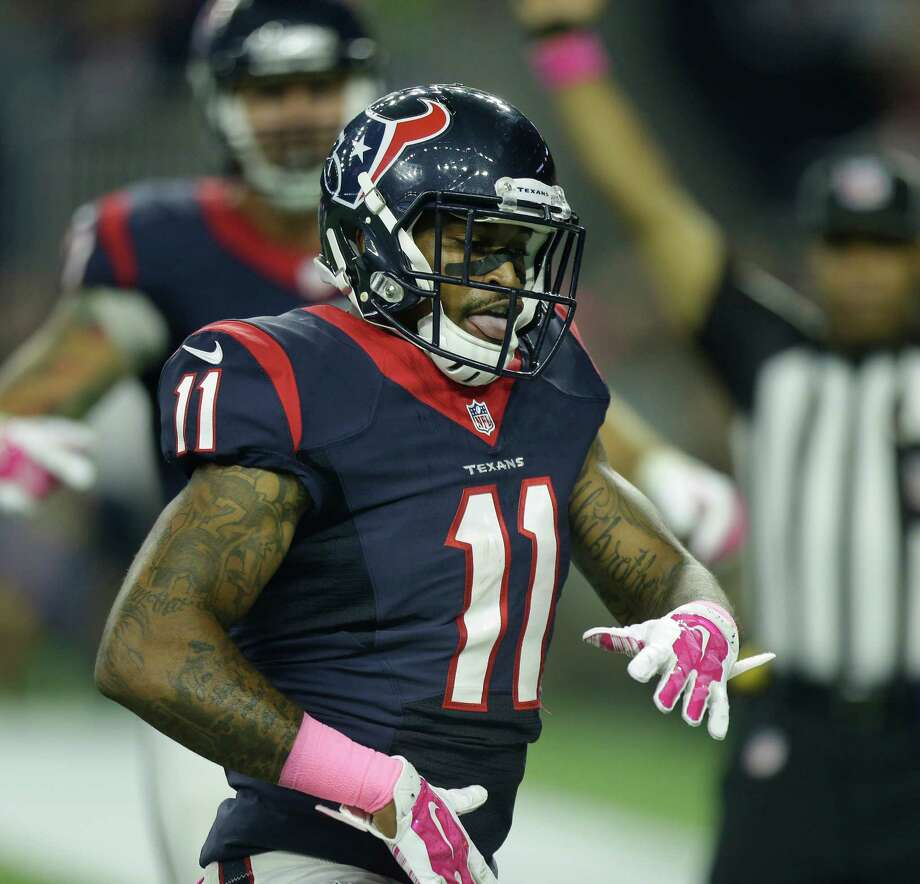 Inactive most of the season, Jaelen Strong is trying to make up for lost time with the Texans. Photo: Brett Coomer, Staff / © 2015  Houston Chronicle