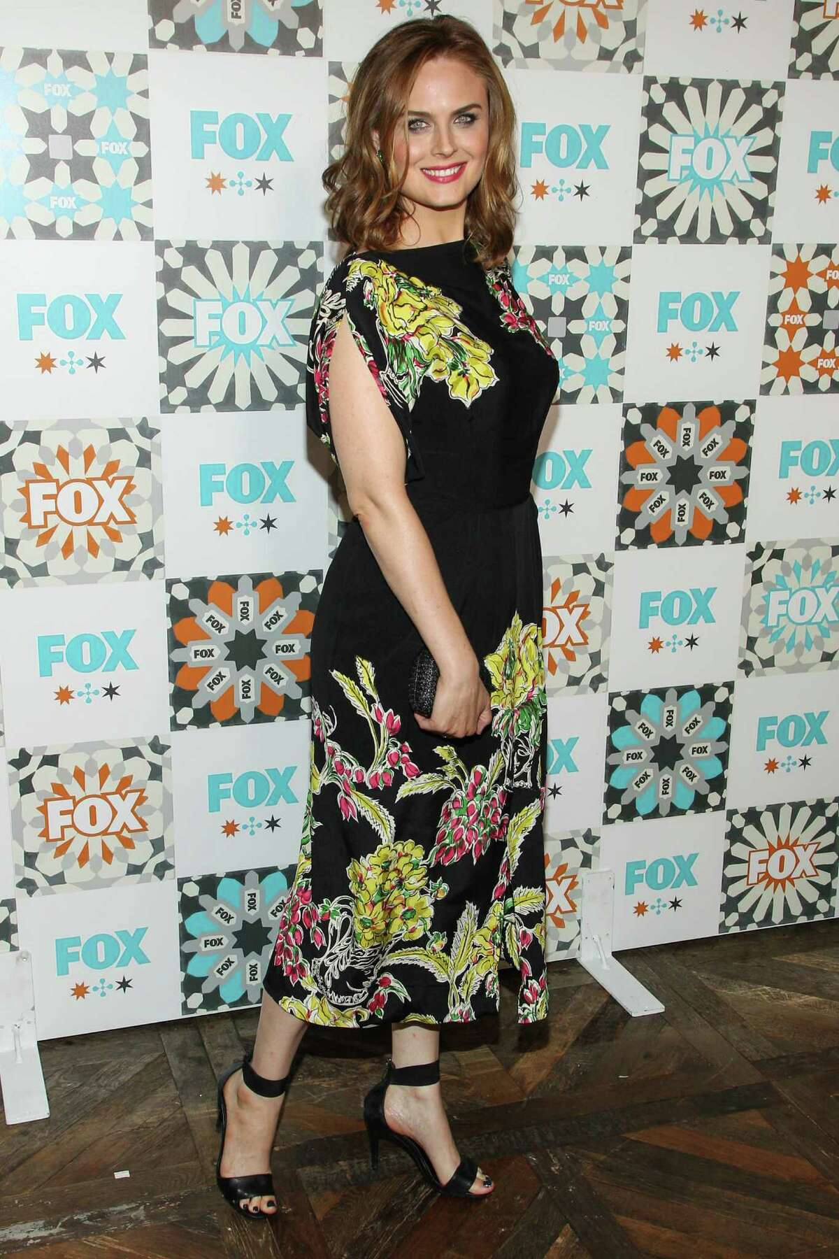 Emily Deschanel attends the FOX Summer TCA All-Star Party at Soho House on Sunday, July 20, 2014, in West Hollywood, Calif. (Photo by Paul A. Hebert/Invision/AP) ORG XMIT: CAPH104