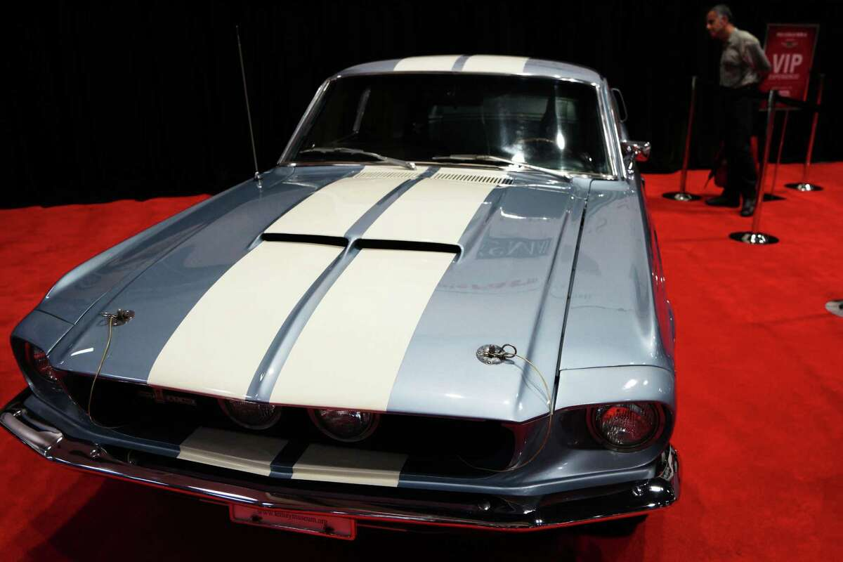 A 1967 Ford Shelby Cobra GT-500 is shown during the Seattle Auto Show at CenturyLink Field Events Center. The Seattle Auto Show continues through October 11th. Photographed on Wednesday, October 10, 2015.