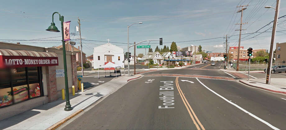 The shooting was reported at 9:21 p.m. at the 3600 block of Foothill Blvd., just two blocks from a double killing a little more than two weeks ago. Photo: Google Maps