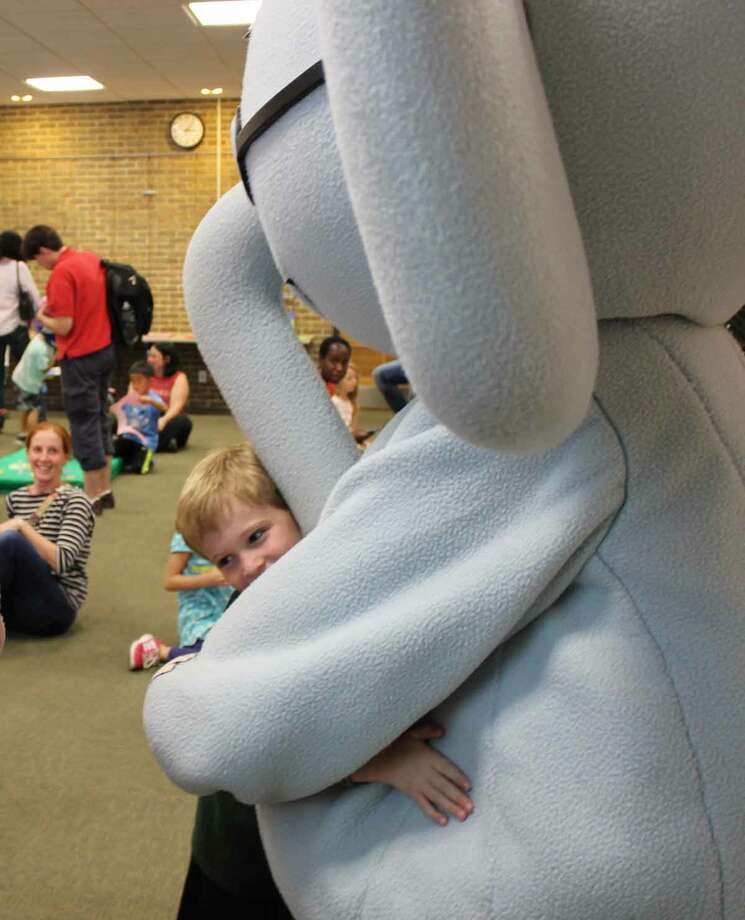 On Wednesday, Sept. 23, Elephant and Piggie, characters from the popular Mo Willems early reader series, concluded their weeklong visit to Bethlehem Public Library with a Best Friends Party. Kids joined the pair for an afternoon of dancing, crafts and photo ops. (Kristin Roberts)