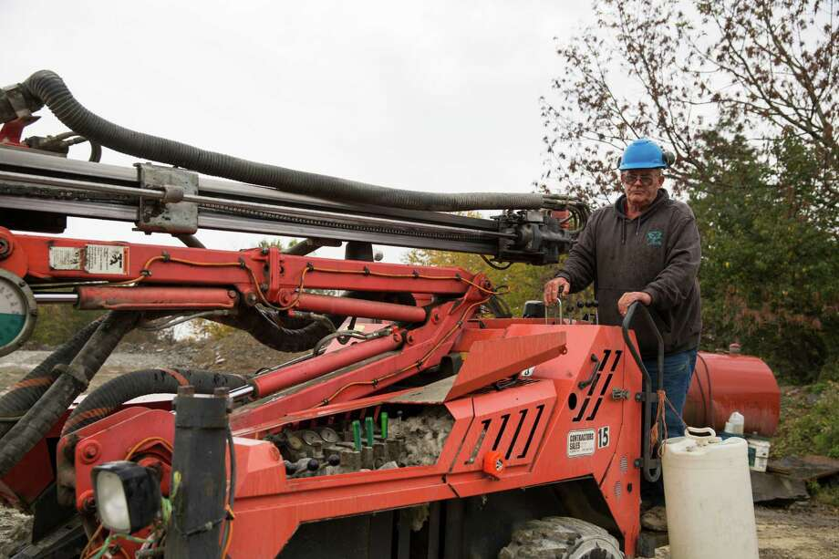 In this Friday, Oct. 9, 2015, photo, Glen Mead operates a line drill machine at a rock quarry, in Montrose, Pa. Mead spent his life working as a dairy farmer and at age 60, began working with Rock Ridge Stone in Montrose, to make ends meet. For just the third time in 40 years, millions of Social Security recipients, disabled veterans and federal retirees can expect no increase in benefits next year, unwelcome news for more than one-fifth of the nation's population. (AP Photo/Brett Carlsen) ORG XMIT: WX102 Photo: Brett Carlsen / FR170822 AP