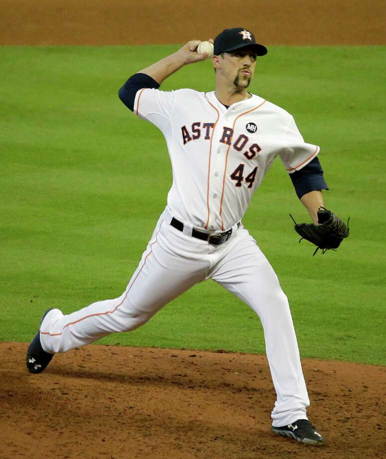 The Astros placed reliever Luke Gregerson on the disabled list Tuesday with a left oblique strain. Photo: Melissa Phillip, Staff / © 2015 Houston Chronicle