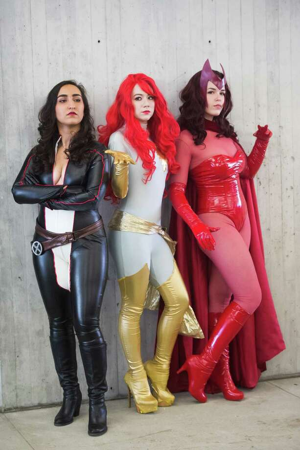 Costumed characters attend New York Comic Con at the Javits Center on Sunday, Oct. 11, 2015, in New York. Photo: Charles Sykes, Charles Sykes/Invision/AP / Associated Press