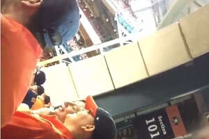 Woman snorting something at Astros game responds - Photo