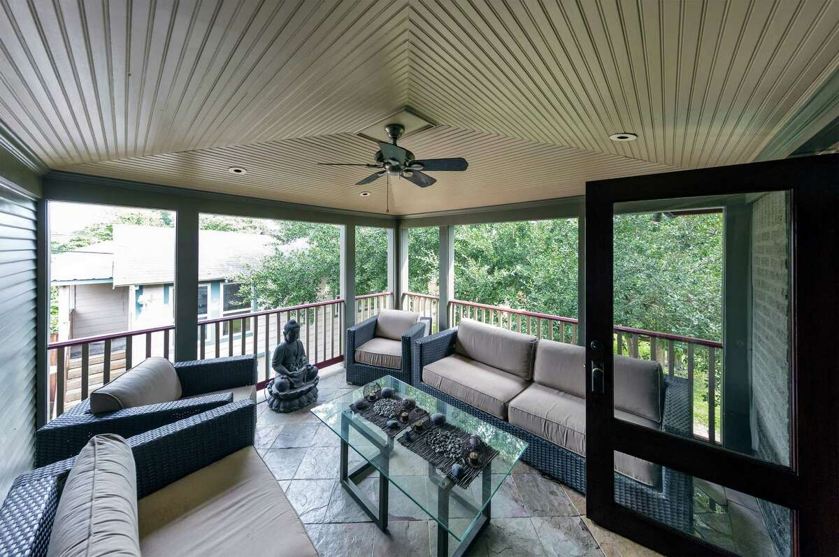 Don't forget a fan Your peaceful outdoor living space will be much more peaceful in the summer time with a fan to help keep you cool and shoo away the mosquitoes.