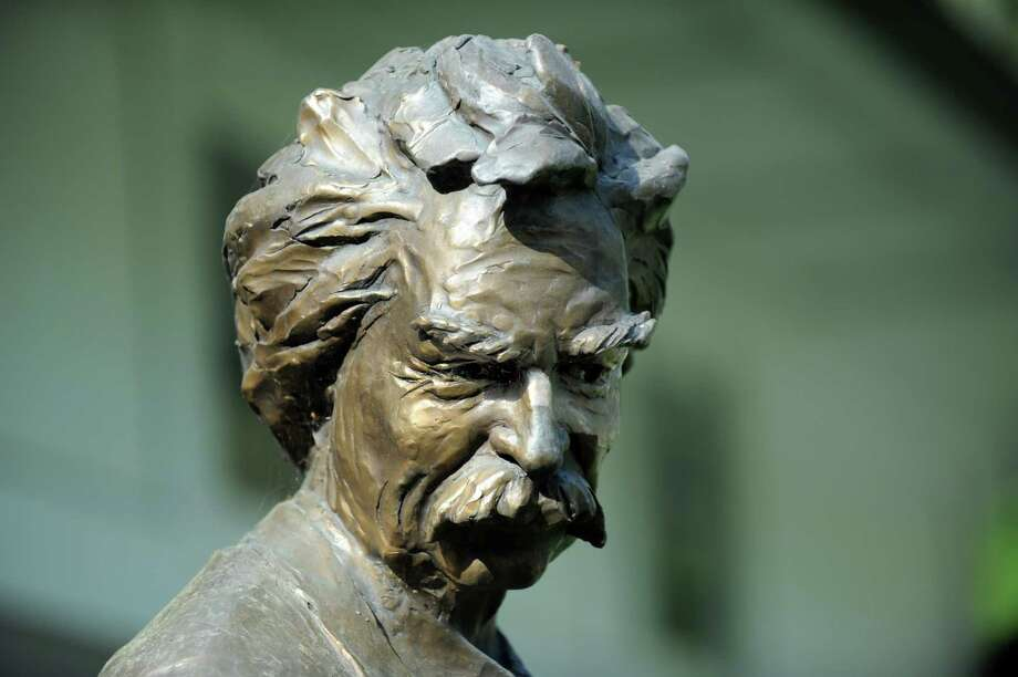 A detail on one of many likeness of Mark Twain that adorn the Mark Twain Library in Redding, Conn., Monday, May 11, 2015. Photo: Carol Kaliff / Carol Kaliff / The News-Times