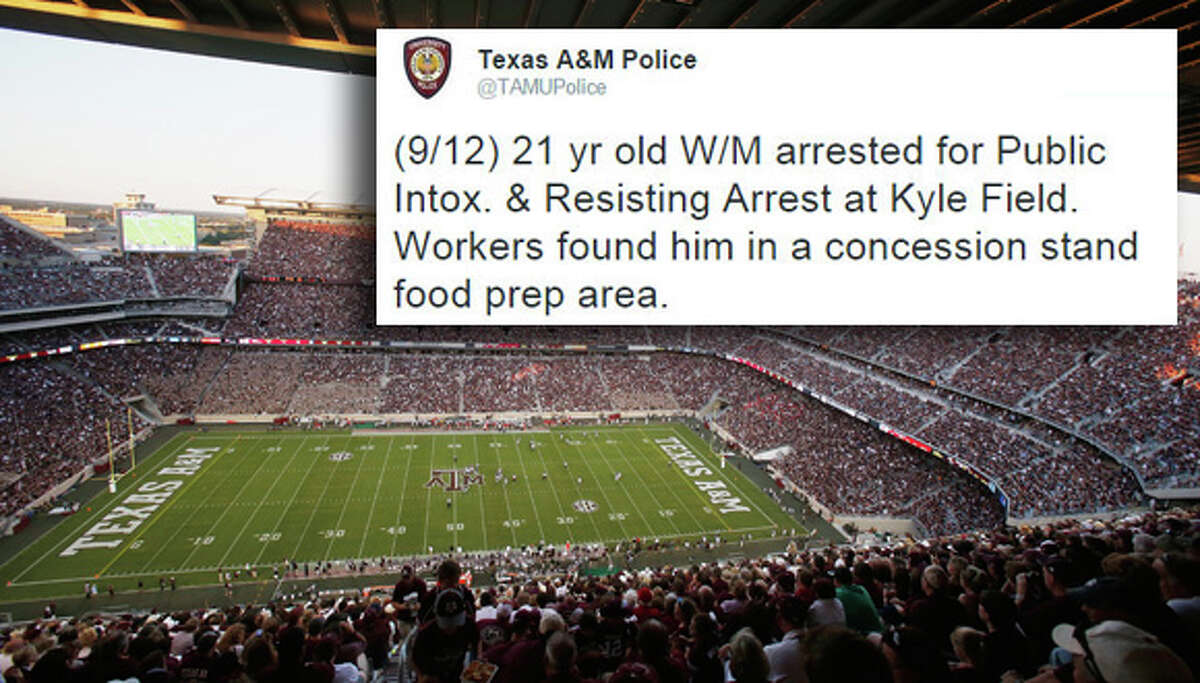 Whenever something wild goes down at Texas A&M, campus police are there to put an end to it ... and to post a hilarious tweet about it.