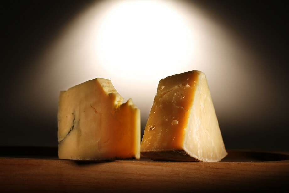 Fiscalini and Montgomery's cheddar cheeses. Photo: John Lee, SFC