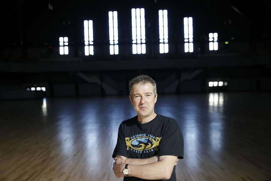 Peter Acworth, owner of the Armory and kink.com, poses for a portrait in the Drill Court at the Armory  on Monday, October 12,  2015 in San Francisco, Calif. Photo: Lea Suzuki, The Chronicle