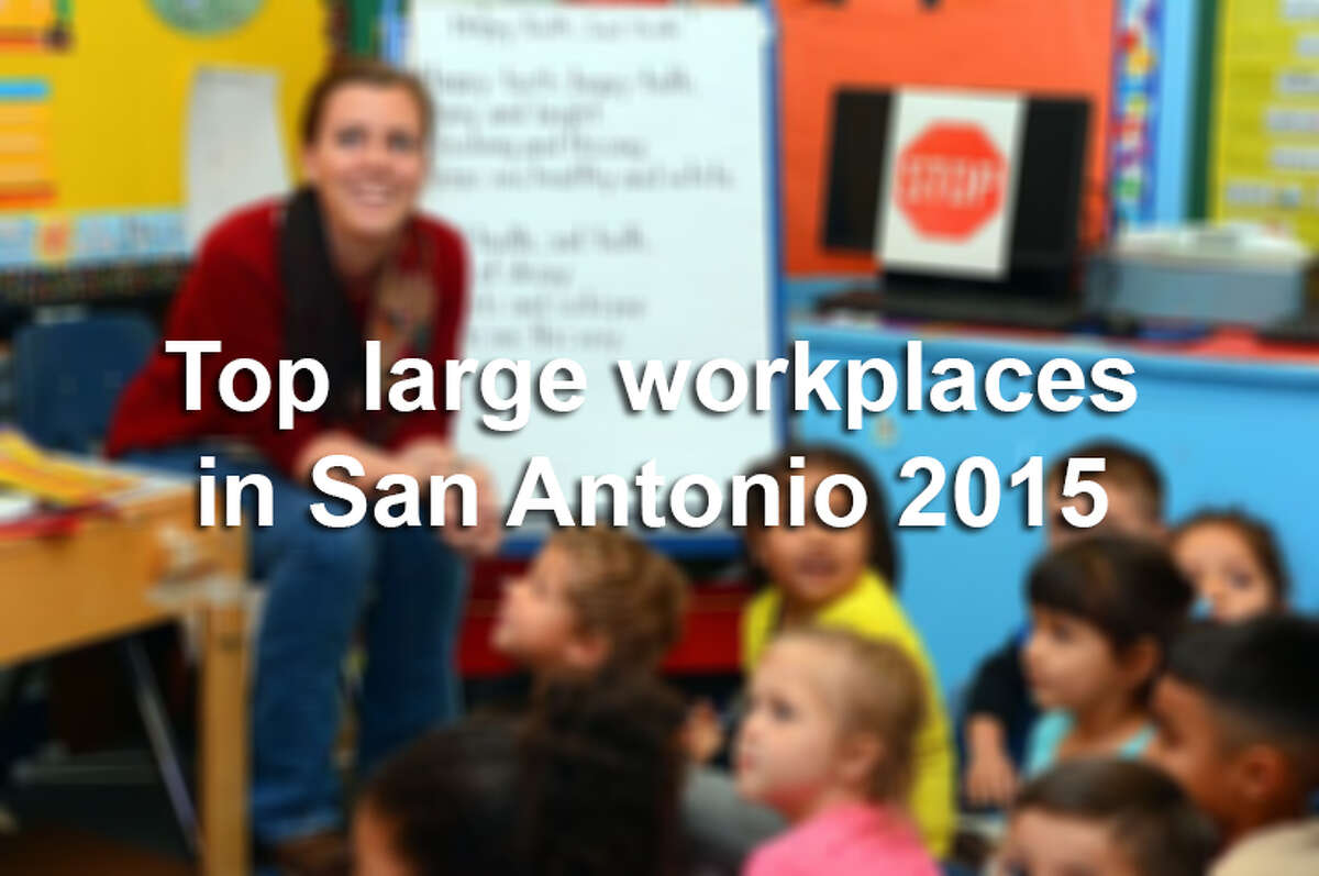 Click through the slideshow to see the top large, midsize and small businesses in San Antonio, plus their benefits, according to the 2015 Top Workplaces survey.
