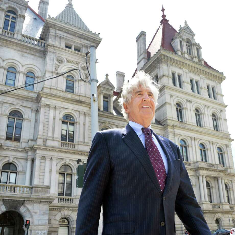 Former State Senator Joseph Bruno outside the State Capitol after making an appearance in the Senate Tuesday, June 10, 2014, in Albany, N.Y.   (John Carl D'Annibale / Times Union) Photo: John Carl D'Annibale