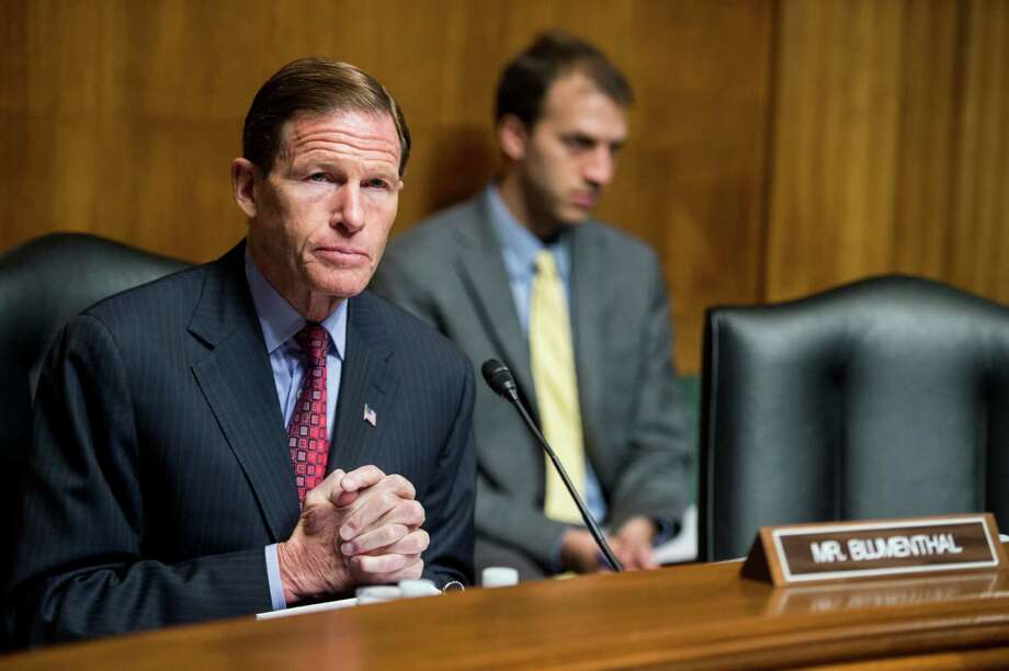 U.S. Sen. Richard Blumenthal (D-Conn.) formally called Monday, October 12, 2015, for an investigation of Volkswagen by the U.S. Department of Justice, following revelations of rigged emissions systems. Photo: Bill Clark / CQ-Roll Call,Inc. / © 2014 CQ Roll Call