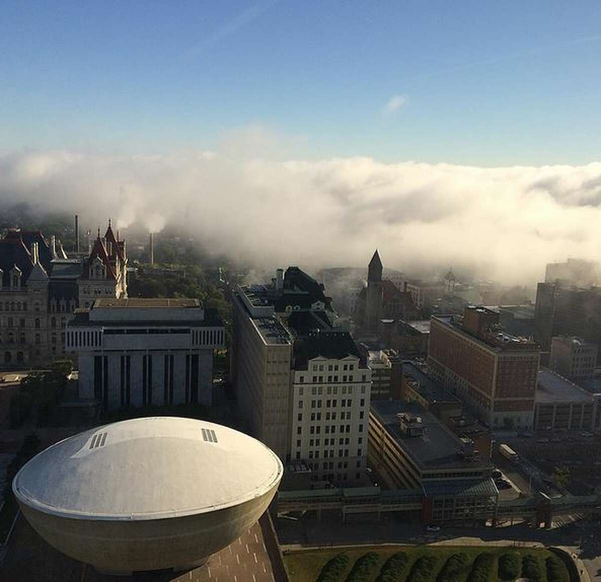 View from up high in the Corning Tower. Photo credit: @nobezilla85