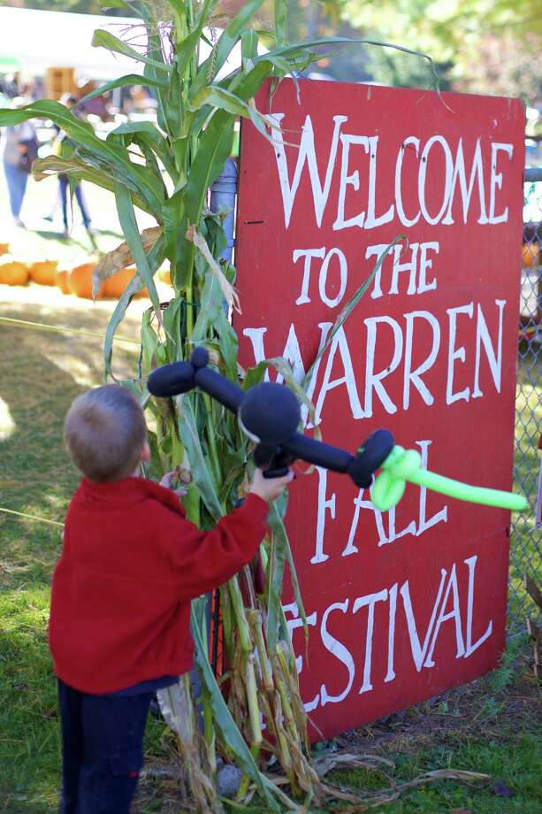 The Warren Volunteer Fire Co. held the 54th Warren Fall Festival last weekend. Offerings included fire truck rides, chain saw carving, blacksmith demos, country crafts and more. Photo: Trish Haldin / For Hearst Connecticut Media / The News-Times Freelance
