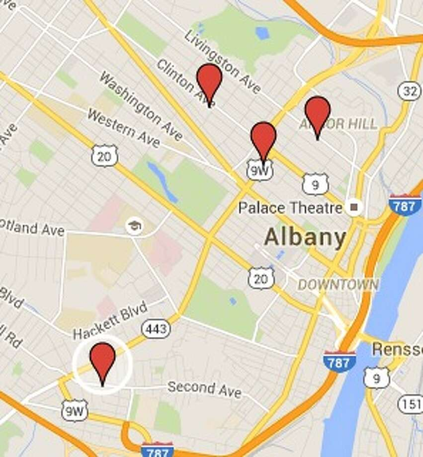 Albany police are investigating a string of four shootings this weekend.