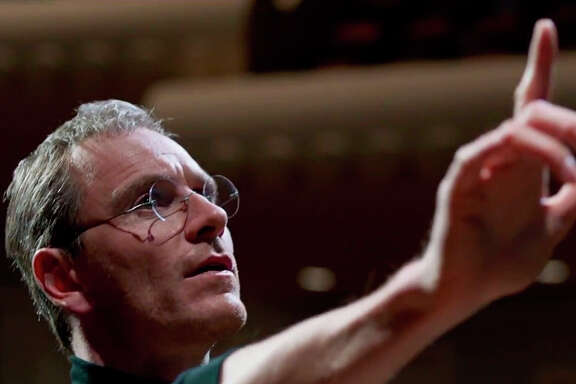 """Michael Fassbender is the title character in """"Steve Jobs."""""""