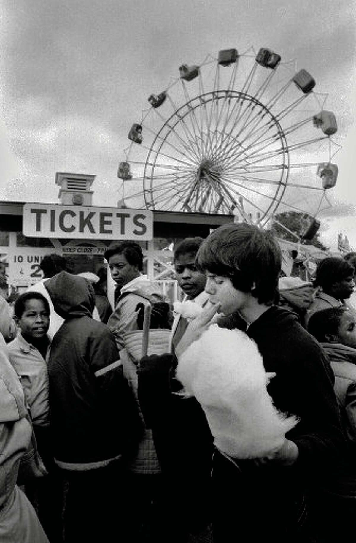 The Great Danbury Fair attracted more than 40,000 people on Oct. 3, 1981. Mark Schwartz, right, of Brooklyn, N.Y., was one of many who enjoyed the cotton candy on the first day of the last year of the fair.