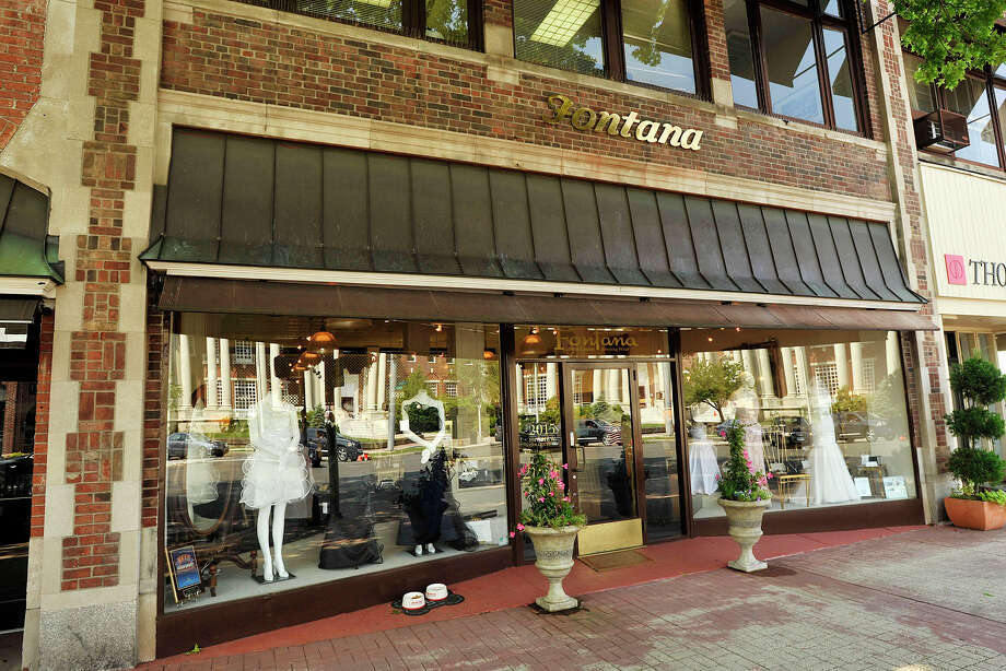 Fontana Couture in Greenwich, Conn., closed its doors last week without notice. A photo on the store's website says the store is closed due to illness in the owner's family. Photo: Jason Rearick / Jason Rearick / Stamford Advocate