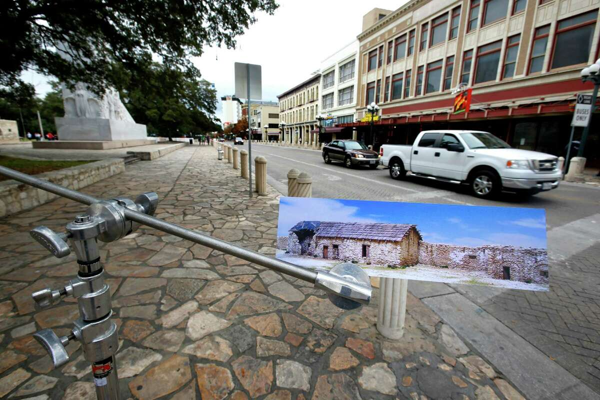 The owner of some of the businesses along Alamo Plaza that detract from the reverence due the site, has indicated a willingness to talk about moving. A rendering of the Trevino House/Travis Headquarters depicting the structure as it would have looked in 1836 also shows the possibilities in restoring the stie as much as is possible to its 1836 footprint.