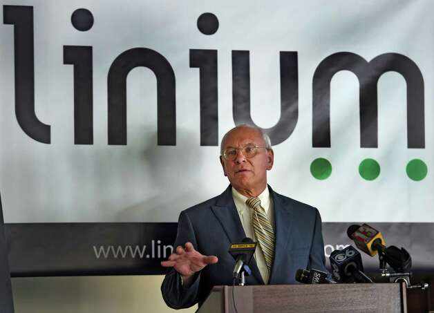 Congressman Paul Tonko discusses the results of the Linium Index of High-Tech Hiring study Monday morning Oct. 12, 2015, at the offices of Transfinder's in Schenectady, N.Y.     (Skip Dickstein/Times Union) Photo: SKIP DICKSTEIN / 10033711A
