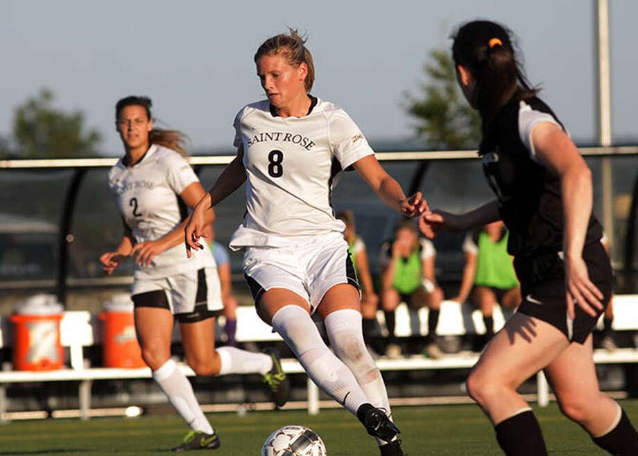 Burnt Hills High graduate Morgan Burchhardt of the Saint Rose women's soccer team. (Saint Rose sports information)