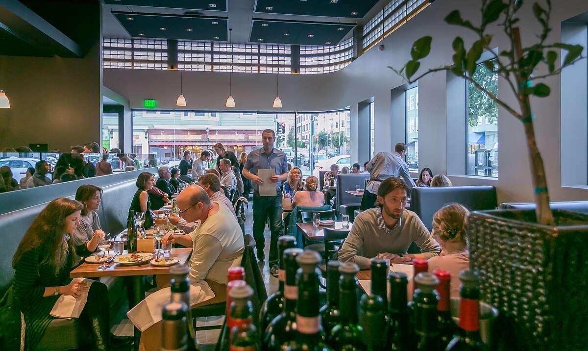 Diners enjoy dinner at 1760 in San Francisco, Calif., on October 25th, 2013.