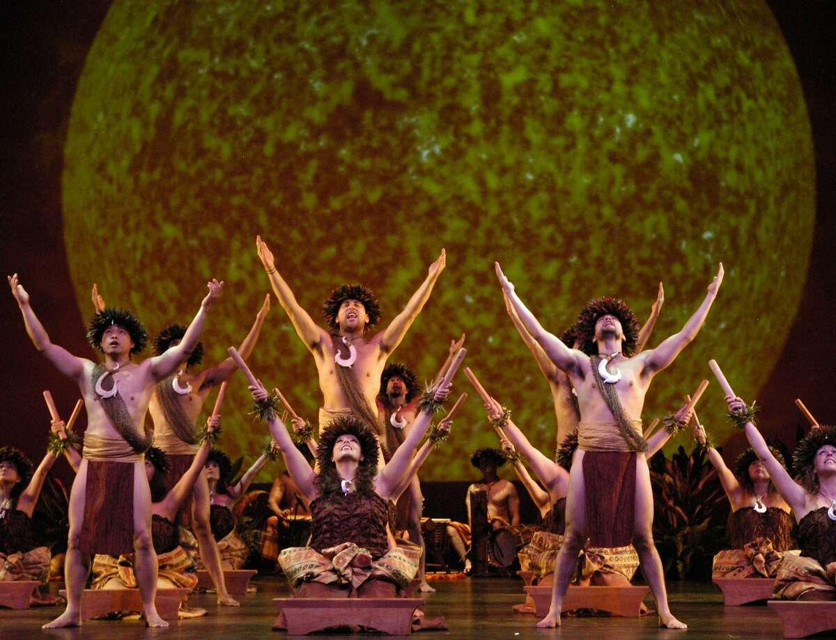 Members of Na Lei Hulu I Ka Wekiu perform their 30th anniversary season at the Palace of Fine Arts Theater through Sunday, Oct. 25l. Photo by Lin Cariffe