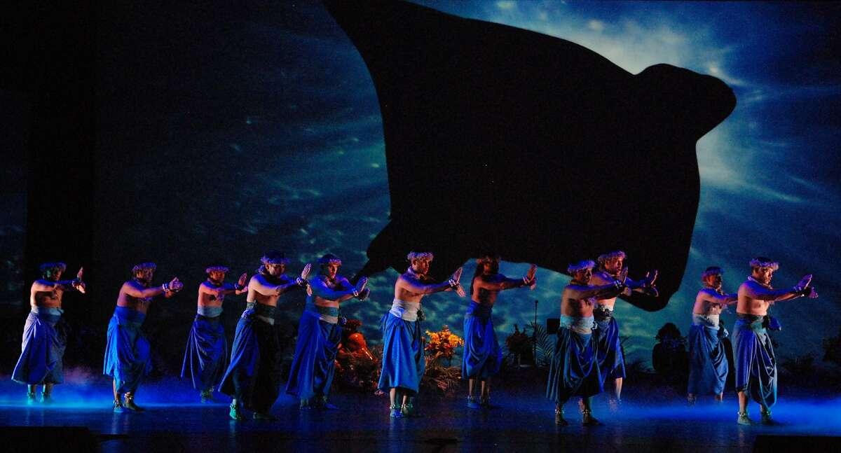 Members of Na Lei Hulu I Ka Wekiu perform in Patrick Makuakane's