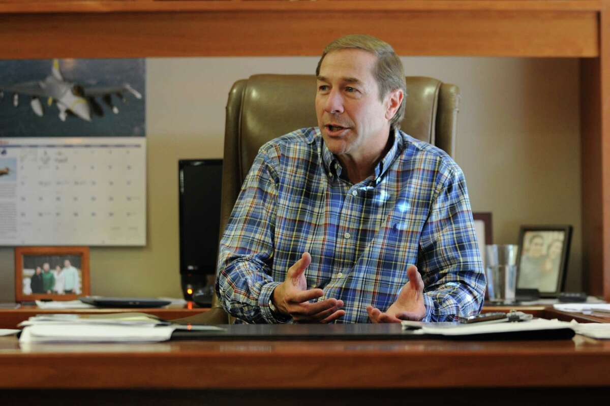 DA Collins Chief Operating Officer Bob Manz, head of Saratoga Super PAC, is interviewed in his office on Tuesday, Oct. 6, 2015 in Wilton, N.Y. (Lori Van Buren / Times Union)