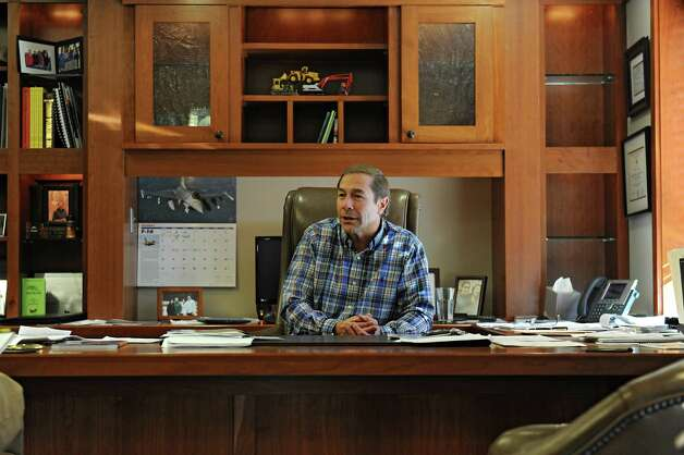 DA Collins Chief Operating Officer Bob Manz, head of Saratoga Super PAC, is interviewed in his office on Tuesday, Oct. 6, 2015 in Wilton, N.Y. (Lori Van Buren / Times Union) Photo: Lori Van Buren / 10033626A