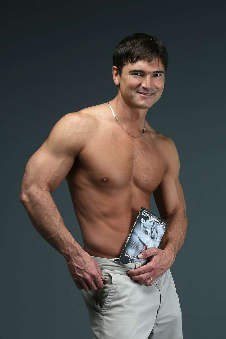 Romance novel model Jason Baca has done over 400 covers and is about to surpass Fabio's records for the most romance novel covers in San Francisco, Calif., on Friday, October 9, 2015.