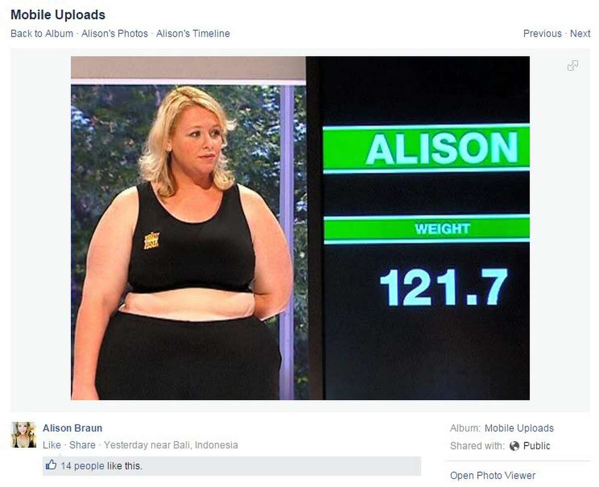 """Alison Braun was a contestant on the third season of """"The Biggest Loser Australia"""" in 2008. She's been able to keep the weight she lost off, losing more than 120 pounds during her time on the show."""