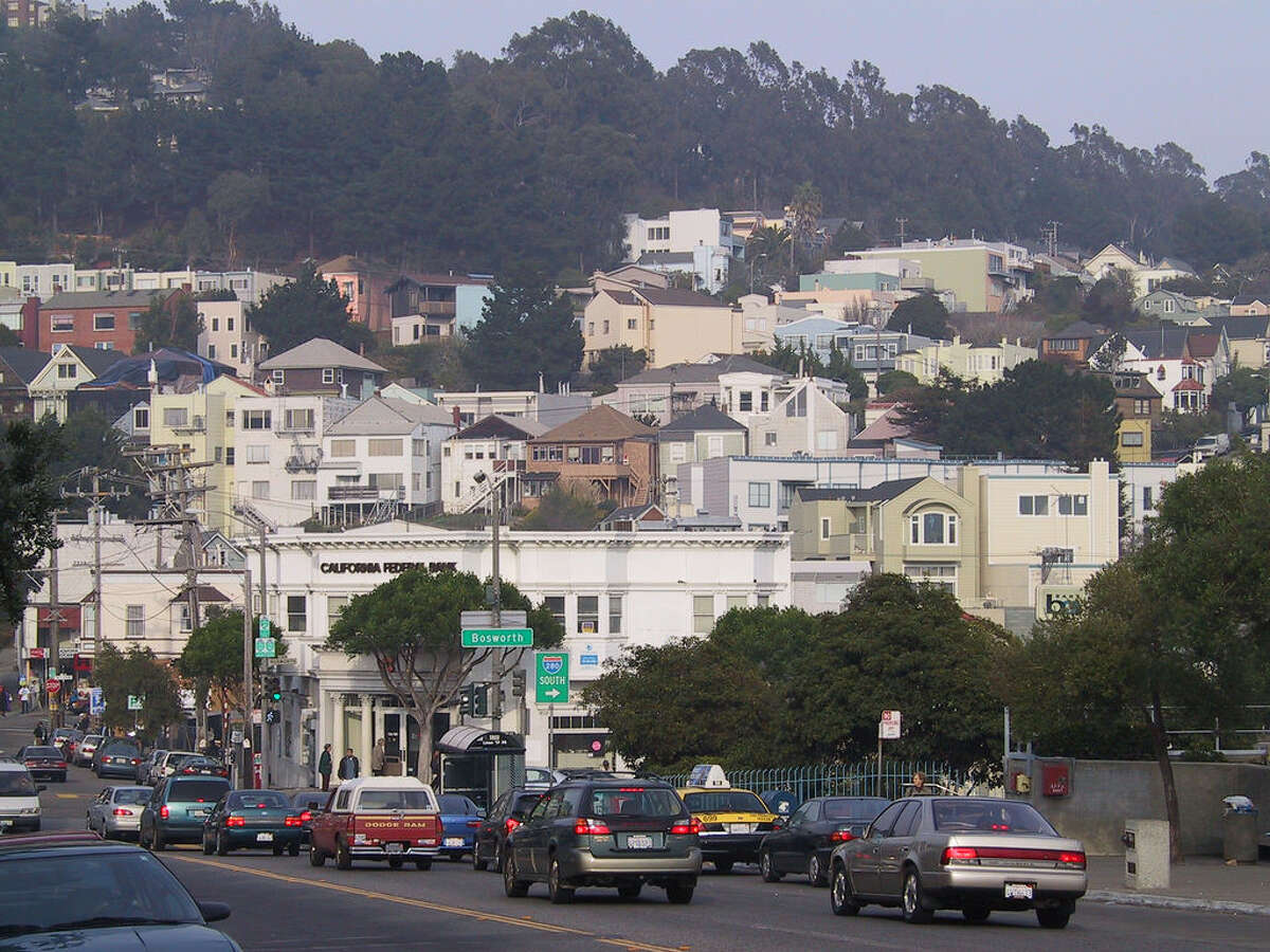 No. 10. Glen Park. Parking score: 44. Rentals listed as having parking: 30 percent. (Note: Buena Vista Park also received a parking score of 44.)