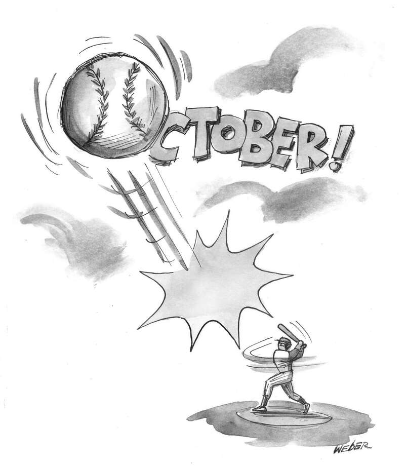 This artwork by Mark Weber relates to the start of the baseball playoffs. Photo: Mark Weber
