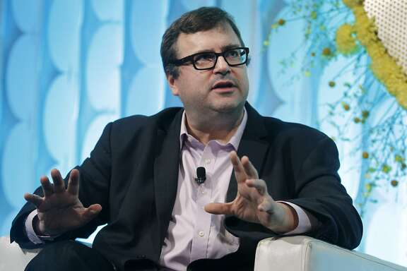 LinkedIn executive chairman and co-founder Reid Hoffman speaks with CNBC's Julia Boorstin during a fireside chat at the Internet Association's Virtuous Circle conference in Menlo Park, Calif. on Tuesday, Oct. 13, 2015.