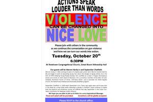 'Violence Can Be Changed' conference Oct. 20 at Newtown Congregational Church - Photo