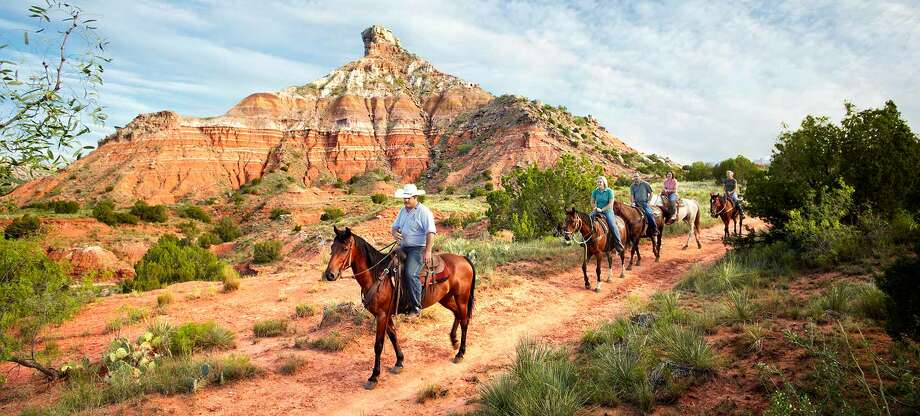Palo Duro Canyon State Park in the Panhandle: Ride on horseback and see the views in north Texas. / Copyright: 2009 - Tomas L Pantin- All Rights Reserved