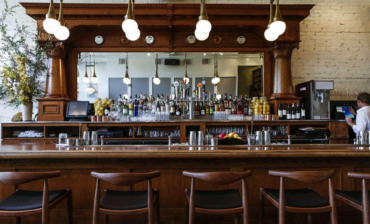 The ground floor bar at Executive Chef Matthew Lightner's new restaurant, Ninebark, is seen on Thursday, Oct. 8, 2015 in Napa, Calif.